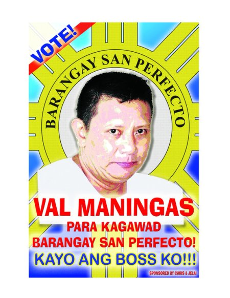 Vote VAL MANINGAS for KAGAWAD Brngy. San Perfecto, San Juan City